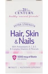 21st Century Hair, Skin and Nails 90 таблеток