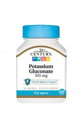 21st Century Potassium Gluconate 595 мг 110 таблеток