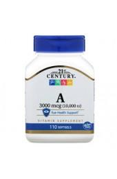 21st Century Vitamin A 10000 МЕ 110 желатиновых капсул