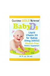 California Gold Nutrition Vitamin D-3 детские капли 400 МЕ 10 мл