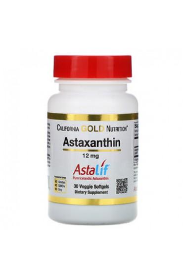 California Gold Nutrition, астаксантин, чистый исландский продукт AstaLif, 12 мг, 30 растительных мягких таблеток СРОК ГОДНОСТИ 11.20 В НАЛИЧИИ