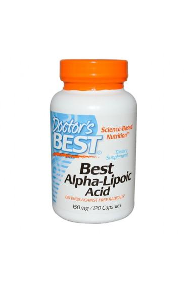 Doctor's Best, альфа-липоевая кислота, 150 мг, 120 растительных капсул В НАЛИЧИИ
