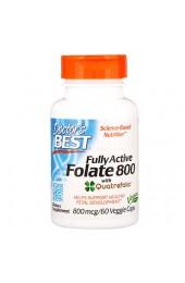 Doctor's Best Folate с Quatrefolic 800 мкг 60 вегетарианских капсул