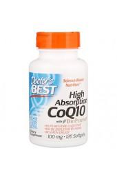 Doctor's Best CoQ10 с BioPerine 100 мг 120 капсул