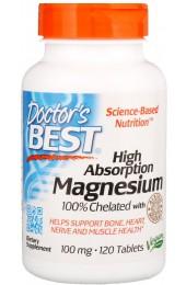 Doctor's Best Magnesium 100% хелатный 120 таблеток