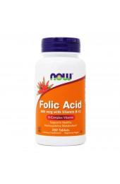NOW Folic Acid plus vitamin B12 800 мг 250 таблеток