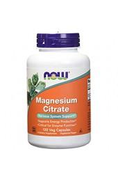 NOW Magnesium Citrate 120 вегетарианских капсул