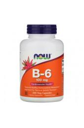 NOW B-6 100 мг 250 веганских капсул