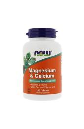 NOW Magnesium & Calcium 100 таблеток