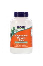 NOW Magnesium Malate Caps 180 вегетарианских капсул