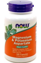NOW Magnesium & Potassium Aspartate 120 капсул
