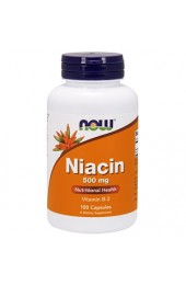 NOW Niacin 500 мг 100 капсул