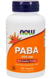NOW PABA 500 мг 100 капсул