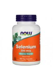 NOW Selenium 200 мкг 180 вегетарианских капсул