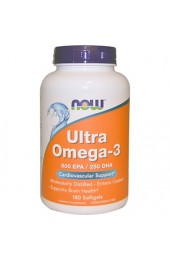 NOW Ultra Omega-3 180 гелевых капсул
