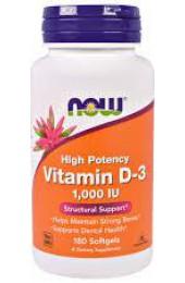 NOW Vitamin D3 1000 IU 180 гелькапсул