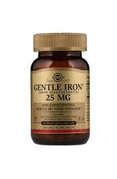 Solgar Gentle Iron 25 мг 90 вегетарианских капсул